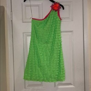 Rare Editions Lime green dress brand new size 14
